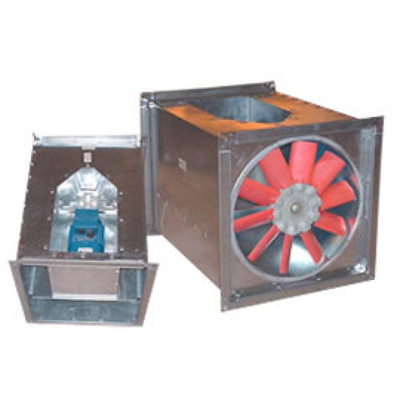 Square Inline Axial Flow Bifurcated Fans - Moduflow Fan Systems